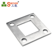 guangdong factory High Quantity SS201  304 Premium Materials Stainless Steel Handrail Post Flange