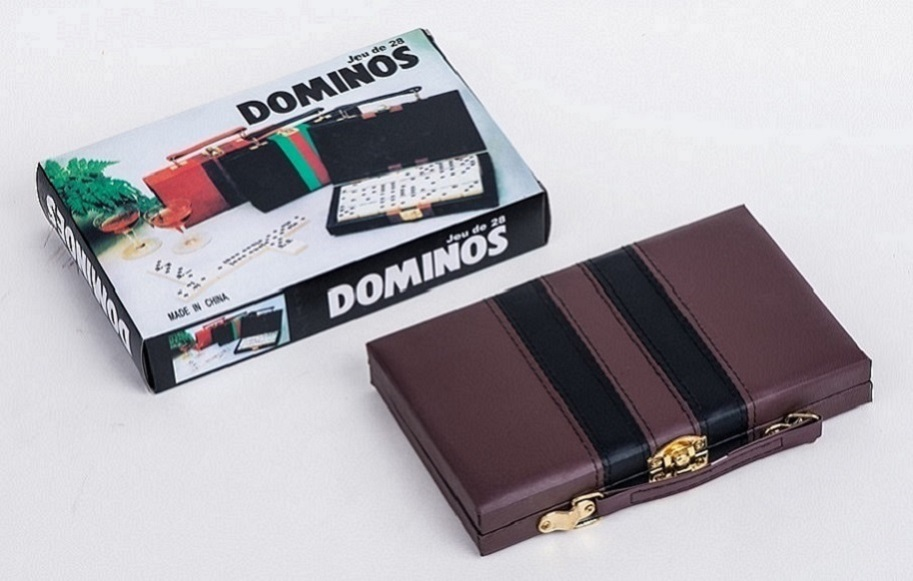 wholesale Double 12 Dominoes Game Set In Leather Box