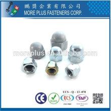 Taiwan Edelstahl 18-8 verchromter Stahl vernickelter Stahl Kupfer Messing DIN 1587 Eichelmuttern Kappenmuttern