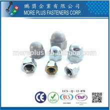 Taiwan Stainless steel 18-8 Chrome plated steel Nickel plated steel Copper Brass DIN 1587 Acorn Nuts Cap Nuts