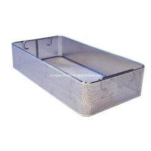 Aço inoxidável esterilizar a cesta de fio de armazenamento de limpeza