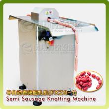 Neumático anudador de salchicha semiautomática anudando Bunding máquina de procesamiento