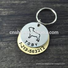 Etiqueta de perro 2d nfc de alta calidad de encargo libre del diseño