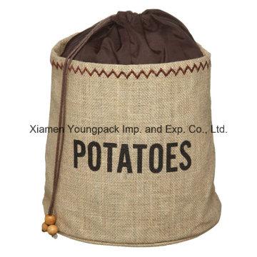 Artesanía de cocina Conservación de patatas Vegetales Cebolla Almacenamiento Jute Sack Bag