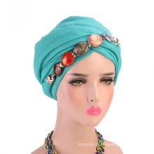 Lenço de bandanas Headwrap conjunto personalizado boné turbante