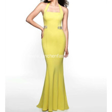 Beading Jersey Long Prom Dress Evening Gown