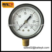 ABS plastic case pressure Gauge Meter with Crimped Bezel