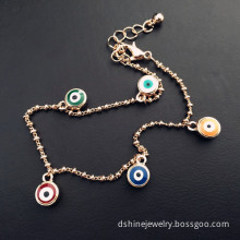 Link Chain Bracelet Jewelry Woman's Evil Eye Charm Bracelet