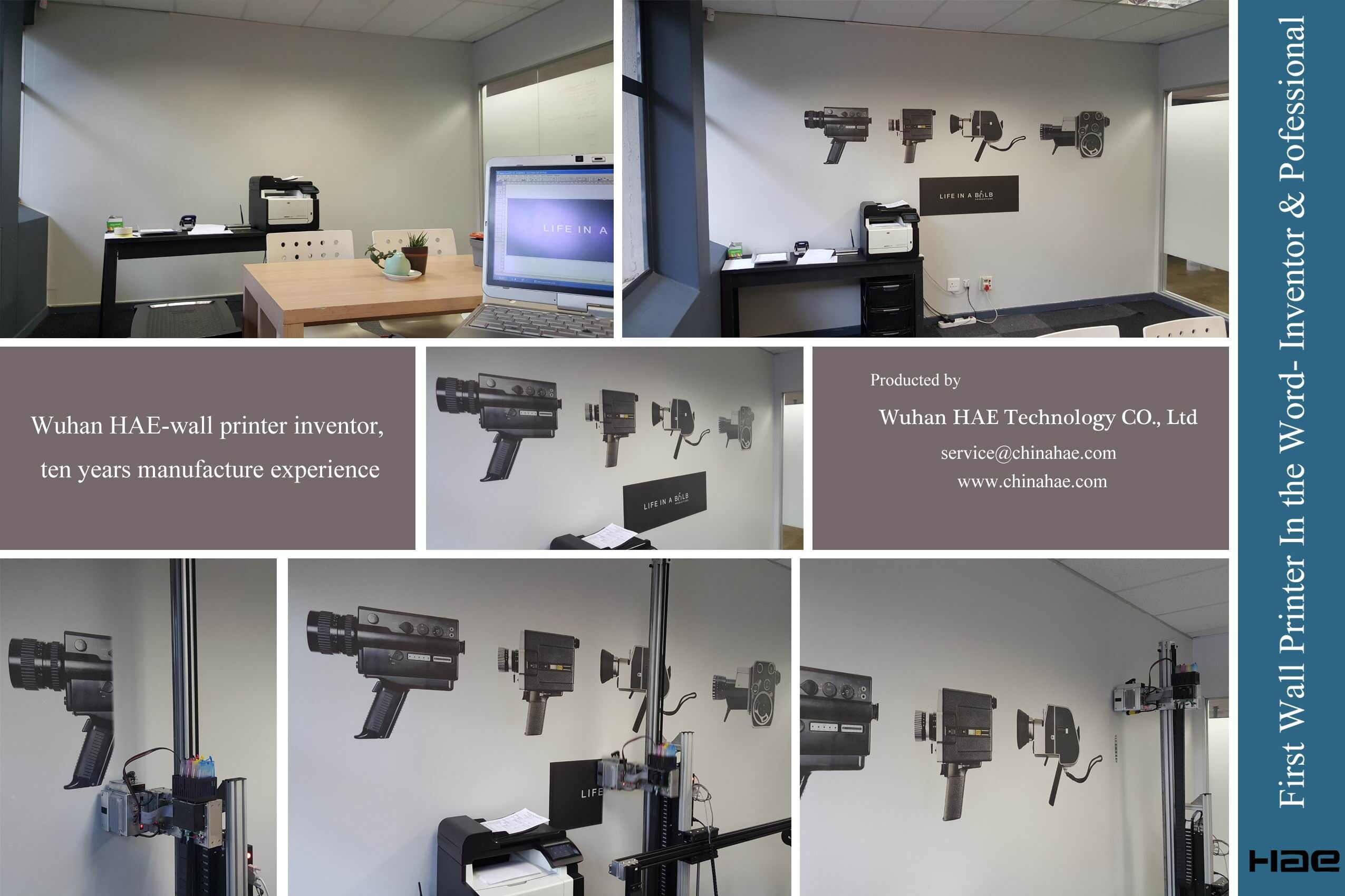 HAE Inkjet Printer On Wall