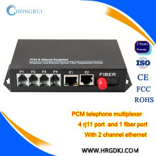 Telecommunication telephones multiplexer voice fxs/fxo pots fiber multiplexer ethernet to telephone converter