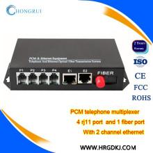 Телекоммуникационные телефоны мультиплексора голосовых портов FXS/fxo по кашпо волокна мультиплексор Ethernet на телефон конвертер