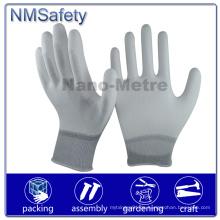 Nmsafety Palm Fit PPE weißer PU beschichteter Arbeitsschutzhandschuh