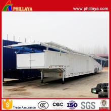 Semi-remorque de voiture incluse de transport de transporteur d'encadrement de suspension d'air de cadre de remorque