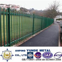 Fornecimento de fábrica galvanizado cerca de paliçada