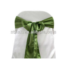 Willow Green Satin chair sash, chair ties, wraps for wedding banquet hotel