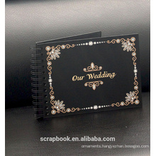Customized black page photo albums for handmaking