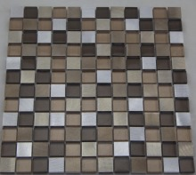 Aluminum and Crystal Glass Mosaic (HGM388)