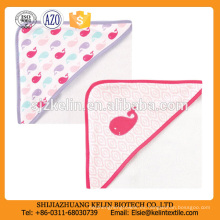 2pack rosa ballena 100% algodón terry con capucha juegos de toallas de baño para niña