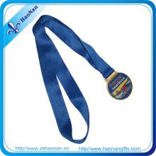 Diseñe su propio logotipo Custom Metal Crafts Medal Ribbon
