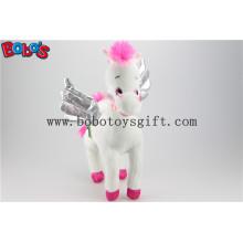 36 centímetros Novo best-seller Plush Stuffed branco cavalo animal selvagem macio Bos1186