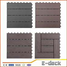 300 * 300 * 22mm WPC DIY Decking Fliese Wasserdichte Verriegelung Composite Decking