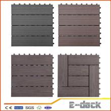 300 * 300 * 22mm WPC DIY Decking Azulejo impermeável Interlocking Composto Decking