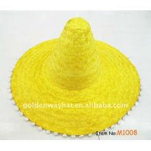 Привлекательная мексиканская соломенная шляпа соломенной шляпы сомбреро