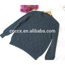 15JW0318 poids léger V-cou hommes câble tricot chandails