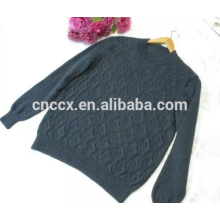 15JW0318 peso leve com decote em V homens cabo malha pulôver blusas