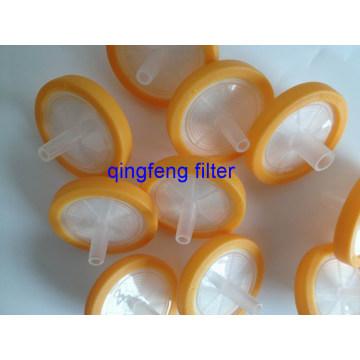 0.22um filtro de jeringa médica de fibra de vidrio de 25 mm