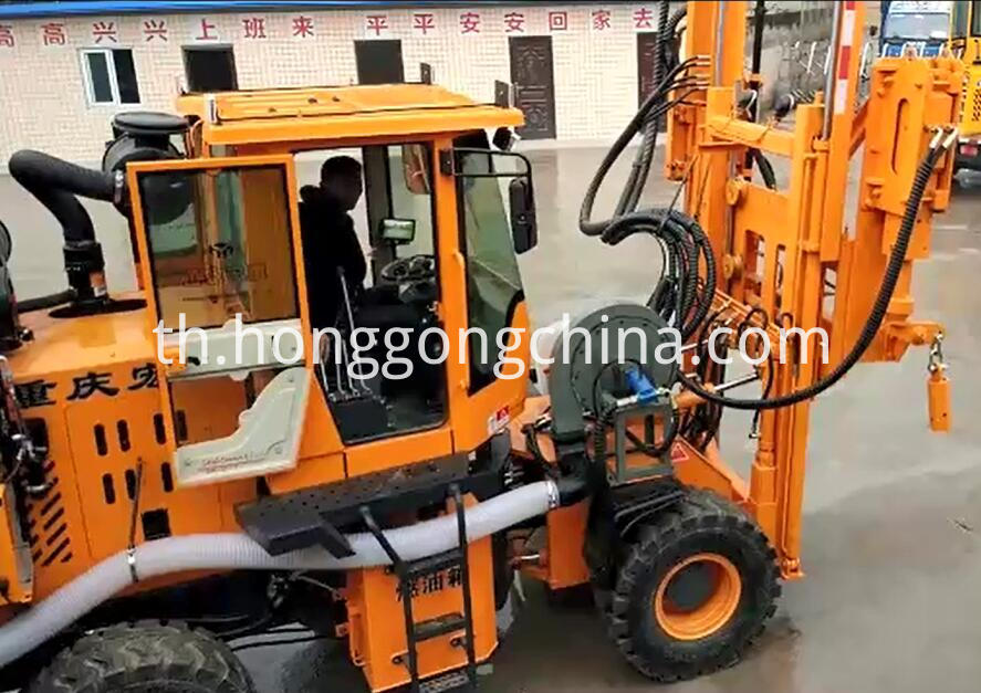 Road Barriers Drilling Machine
