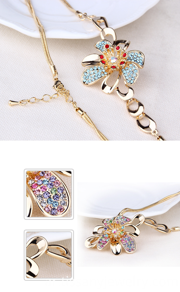 alloy flower neckalce