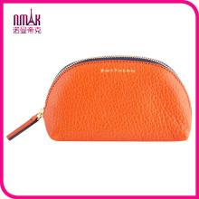 Bolso de monedero de cuero grande con marca de cosméticos bolsa titular asegurado con cierre cerrado