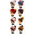 Hot Sale Jacquard Hand Knit Hat with POM POM
