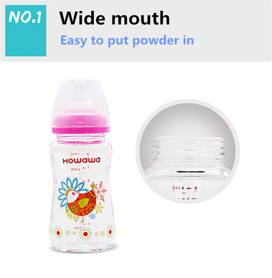 Glass Milk Feeding Bottle