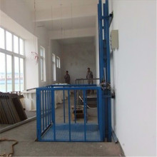 Sjd0.5-8 Fixed Type Guide Rail Lift Platform for Villa Construction