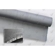 Paño de fibra de vidrio recubierto de color gris silicio de doble cara