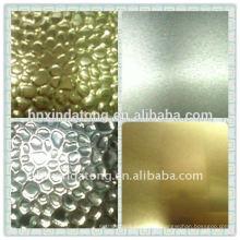 hoja de aluminio en relieve de guijarros