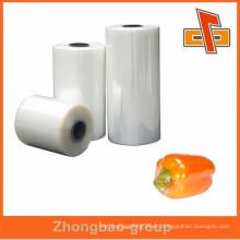 De alta calidad Transparente transparente PE envoltura de alimentos película de estiramiento rollos fabricante de china