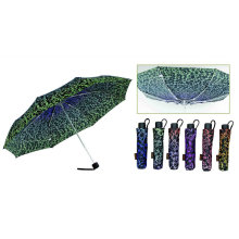 Ornament 3 Fold Windproof Aluminium Umbrella (YS-3FM21083942R)