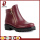 red Patent leather rubber low ankle boots