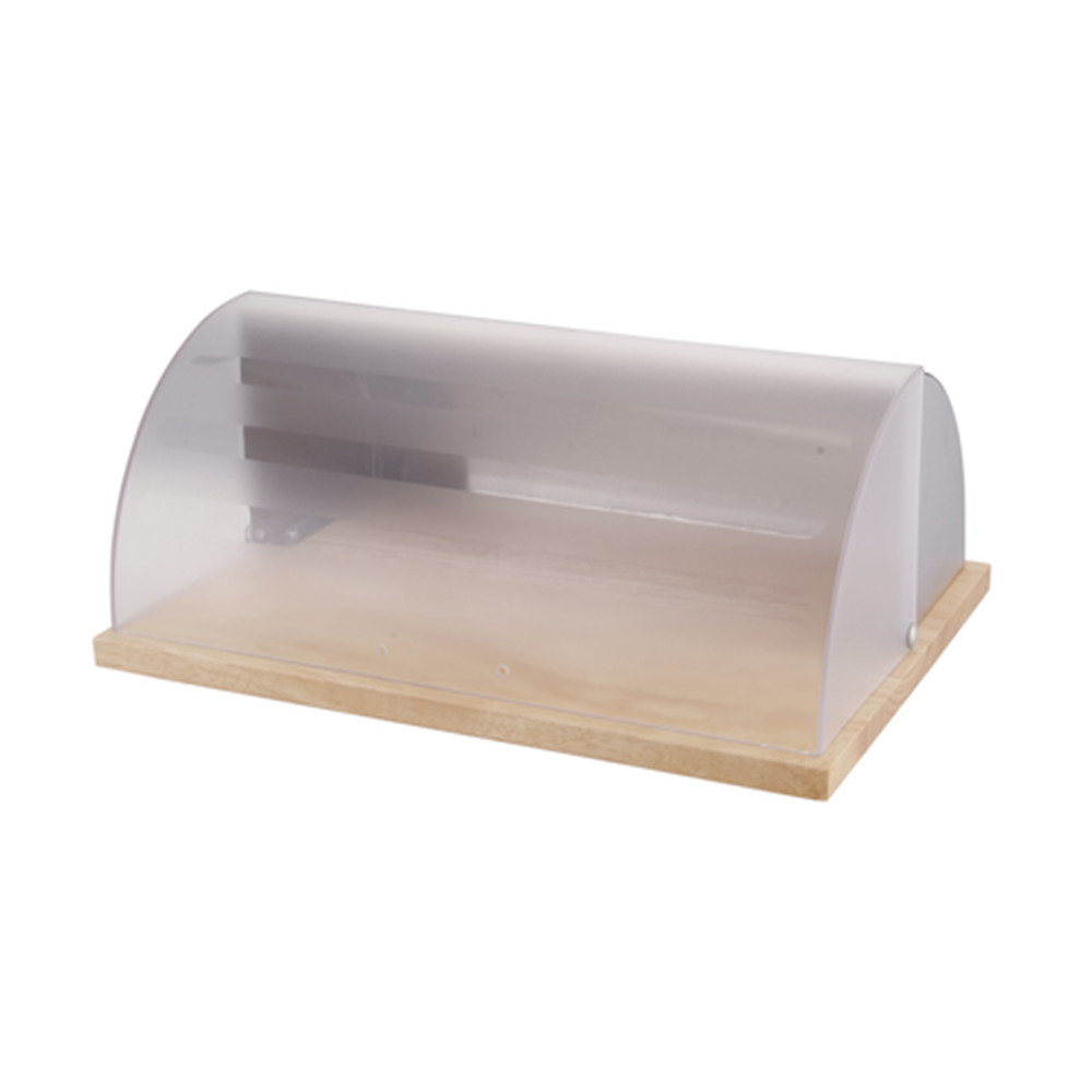 Bread Box With Transparent Cover And Stainless 1