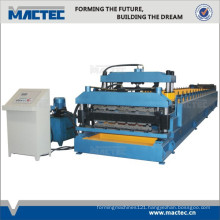 Most Popular Double Layer PPGI Corrugated Roof Sheet Roll Forming Machine