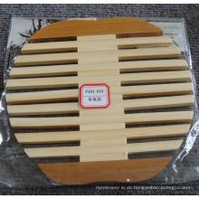 (BC-M1007) Handgemachte natürliche Bambus Apfel-Form-Wärmedämmung Matte
