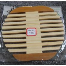 (BC-M1007) Handmade Natural Bamboo Apple Shape Heat Insulation Mat