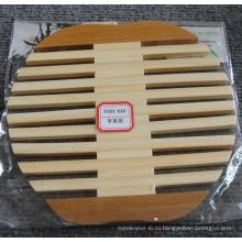 (BC-M1007) Ручной естественной бамбуковой формы Apple теплоизоляции мат