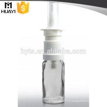 Flacon compte-gouttes en verre de 15 ml avec pulvérisateur nasal