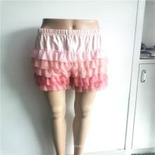 Pantalones de vestir de gasa 100% poliéster para niñas dulces
