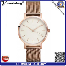 Yxl-270 Женская мода часы сетки группы из нержавеющей стали наручные часы класса люкс розовое золото плита Леди продвижение сетки ремешок часы мужские