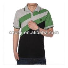13PT1011 Algodão de alta qualidade dos homens de impressão simples camisa polo